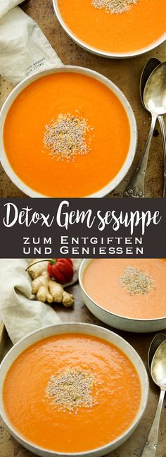 Detox-Gemüsesuppe zum Entgiften und Genießen Detox vegetable soup to detoxify and enjoy soup Detox vegetable soup to detoxify and enjoy – EssVegetable Potato Taler – delicious recipe for childrenSuper 3 Day Detox Soup & Smoothie Plan: So clean Detox Vegetable Soup, Vegetable Soup Recipes, Vegetable Drinks, Easy Healthy Recipes, Healthy Snacks, Vegetarian Recipes, Sopa Detox, Detox Soups, Cleanse Detox