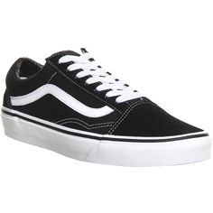 Vans Old Skool (89 CAD) ❤ liked on Polyvore featuring shoes, sneakers, black, trainers, unisex sports, sports trainer, sports shoes, vans sneakers, unisex shoes and vans shoes