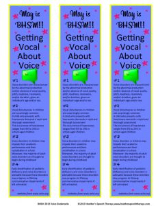 These are technically for Better Speech and Hearing Month, but bookmarks are a cool way, like handouts, to explain to teachers and parents what an SLP does.
