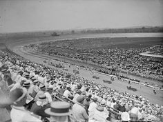 16. A sea of hats at Baltimore-Washington Speedway in 1925.