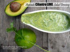 Avocado Cilantro Lime Salad Dressing #avocado #cilantro #lime #saladdressing #dressing