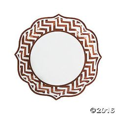 These copper chevron plates feature graceful scalloped edges and a chic chevron pattern that adds both color and elegance to your copper wedding reception! ...