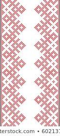 Vector de stock (libre de regalías) sobre Embroidered Crossstitch Ornament National Pattern606557735 Iris, Pattern, Image, Decor, Templates, Dots, Illustrations, Artists, Manualidades