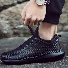 Casual Comfy Breathable Lace-up Sneaker – widezee Mens Casual Dress Shoes, Mens Shoes Boots, Mens Boots Fashion, Casual Heels, Casual Sneakers, Men's Shoes, Sneakers Nike, Men's Fashion, Supreme Shoes