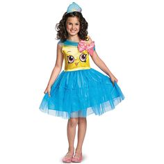 Just as sweet as she is, a Girls' Cupcake Queen, Shopkins Costume is this year's delightful Halloween pick. Perfect for trick-or-treating or for dress-up, a Shopkins costume is sure to be a favorite with your little sweetie. Queen Halloween Costumes, Queen Costume, Girl Costumes, Halloween Kids, Costume Ideas, Fun Costumes, Spirit Halloween, Adult Costumes, Fete Shopkins