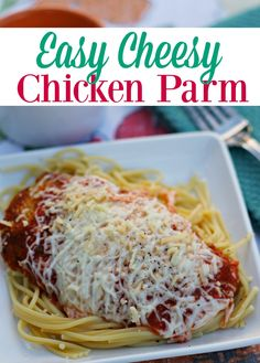 Easy Cheesy Chicken Parmesan Recipe: Great dinner idea! Even from-scratch sauce and still ready in less than an hour.  Double up and have leftovers... WinnerWinnerPerdueDinner Client