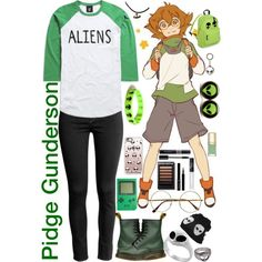Pidge Gunderson [Voltron: Legendary Defender] by lil-galaxy-princess on Polyvore