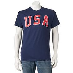 Cheer on your country with this men's USA tee. Kohls, Graphic Tees, Clothes, Box Store, Trends, Usa, Spring, Fashion, Outfits