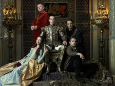 Sam Neill, Jeremy Northam, Jonathan Rhys Meyers and Natalie Dormer in The Tudors