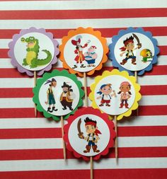 Jake and the Neverland Pirates Cupcake Toppers by PartyXtras on Etsy