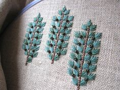 Great use of leaf stitch with beads and stem