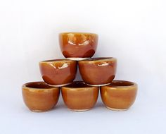 French pottery snail holders  6 escargot cups by MaisonMaudie, $12.00