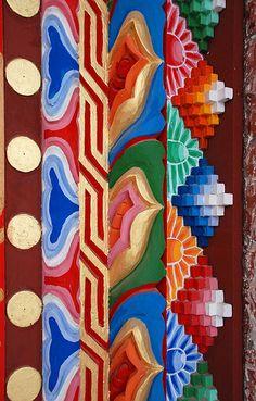 Tibetan Temple Decoration by malcolm bull, via Flickr