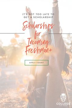 Whether you're an incoming freshman or above, it's not too late to get a scholar… – Earn College Scholarships College Freshman Tips, Financial Aid For College, College Tuition, Freshman Year, College Fun, Student Loans, College Life, College Planning, College Students