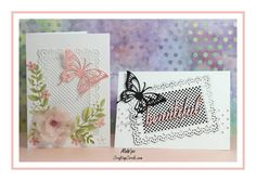 Gina Marie Designs - LATTICE RECTANGLE SET & SMALL BUTTERFLY DIES