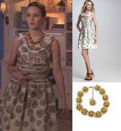 Naeem Khan Dot Cockail Dress $3,790  Mariana Swarovski Crystal Necklace