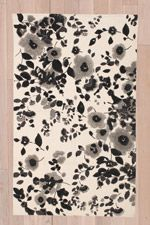 Zoe Floral 3x5 Rug in Black at Urban Outfitters