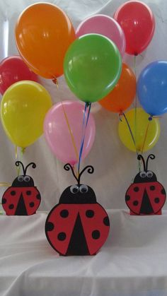 Ladybug Party Centerpiece by DreamComeTrueParties on Etsy, Ladybug 1st Birthdays, First Birthdays, Ladybug Party Centerpieces, Ladybug Party Supplies, Ben Y Holly, Baby Ladybug, Ladybug Crafts, Baby Party, Birthday Balloons