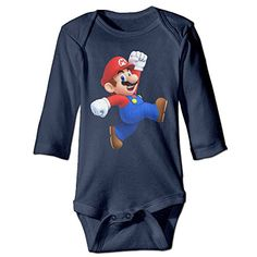 Bro-Custom Happy Mario For 6-24 Months Infant Romper Outfits 6 M Navy >>> Find out @