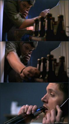 Dean and beer - 5x04 The End