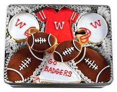 Wisconsin Badger Decorated Sugar Cookies