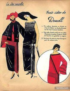 1923 Drecoll ''Les Idees Nouvelles de la Mode'' Pochoir Art Deco ''Tres Parisien''
