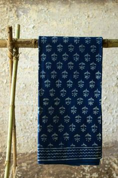 the Indigo prints of these saris sit elegantly whether it is a festive gathering or just another day to office. The softness of cotton and natural colors against skin allows possibilities of daily use and it only gets better with ever wash. Textile Fabrics, Textile Patterns, Textile Prints, Indigo Saree, Tribal India, Indigo Prints, Batik Prints, Dabu Print, Indian Textiles
