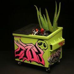 dumpster graffiti | Steelplant Desktop Dumpster with Aloe - ANIMAL