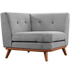 Engage Corner Sofa is a welcome presence in your home. Four tufted buttons create eye catching appeal; adding depth that brings your seating decor to center stage. Rubber wood legs and frame supply a solid base to this quality upholstered fabric piece. Grey Corner Sofa, Diy Sofa, Luxury Sofa, Sofa Furniture, Simple Furniture, Furniture Removal, Accent Furniture, Painted Furniture, Modern Furniture