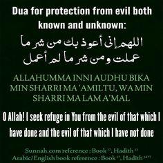 Dua for Protection from evil Duaa Islam, Islam Hadith, Islam Muslim, Allah Islam, Islam Quran, Islam Religion, Alhamdulillah, Islamic Prayer, Islamic Teachings