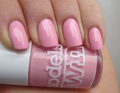the Lacquerista: Models Own - Pastel Pink swatched on nail stick £2
