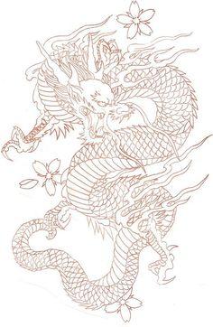 diseños de tatuajes 2019 Ladys and Genltemen, I give you a Chinese Dragon. - diseños de tatuajes 2019 Ladys and Genltemen, I give you a Chinese Dragon. I also have the coloure - Trendy Tattoos, Cute Tattoos, Leg Tattoos, Arm Tattoo, Body Art Tattoos, Sleeve Tattoos, Dragon Tattoo Placement, Samoan Tattoo, Polynesian Tattoos