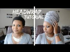 Headwrap tutorial #2 : Erykah badu, Nefertiti style - YouTube