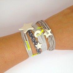 Margote Ceramiste - Bracelets ambiance grise