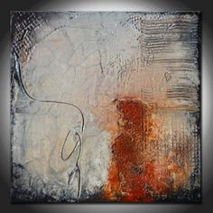 Small Abstract Textured Sculpted Original Painting by Andrada - Heavy Textured - Mixed media painting on Etsy, $125.00