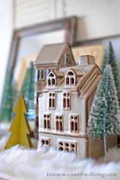 Old-Fashioned Snow Village