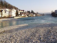 Water mouth of steyr into enns, Austria.