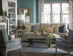 HGTV® HOME Custom Upholstered Large Great Room Sofa by Bassett Furniture