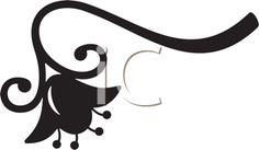 iCLIPART - Simple Flower Silhouette Illustration Free Clipart Images, Royalty Free Clipart, Royalty Free Images, Flower Silhouette, Cut Image, Silhouette Portrait, Simple Flowers, Swirls, Paper Cutting