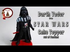 "How to make Darth Vader from ""Star Wars"" out of fondant Cake Topper - YouTube"