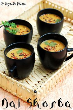 Dal Shorba by using Moong/Masoor Dal - Might be the very thing for me. Healthy Indian Recipes, Veg Recipes, Vegetarian Recipes, Cooking Recipes, Beans Recipes, Vegetarian Soup, Indian Soup, Indian Dishes, Recipes