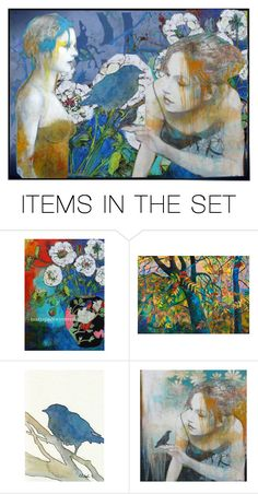 """""""Sending Good Vibes to Etsy Fresh & PaperBoy"""" by dorataya ❤ liked on Polyvore featuring art, bird and artandexpression"""