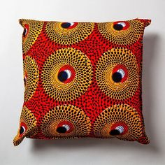 African fabric Cushion #africanwax #afro #africanfashion