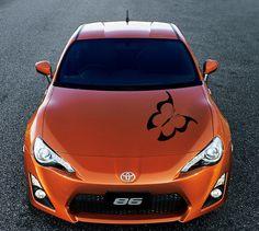 HOOD CAR AUTO VINYL STICKER DECALS GRAPHICS  BUTTERFLY SILHOUETTE  DA127