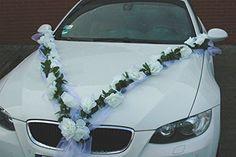 Buy car decoration quickly and easily for the wedding Wedding Getaway Car, Wedding Day, Bridal Car, Wedding Car Decorations, Cute Selfie Ideas, Rose Decor, Wedding Colors, Wedding Jewelry, Wedding Planner