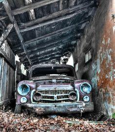 Abandoned car, Poland.