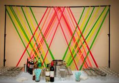 Neon modern Chicago wedding  | photo by West Loop Studios | 100 Layer Cake: