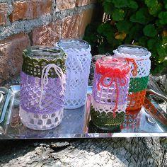 frascos vestidos - crochet