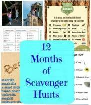 12 Months of Scavenger Hunts for Kids