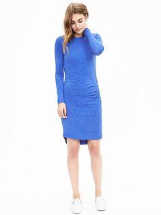 Shirred Knit Dress   Banana Republic
